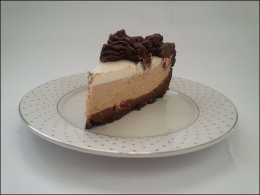 עוגת גבינה-קפוצ'ינו-פאדג'