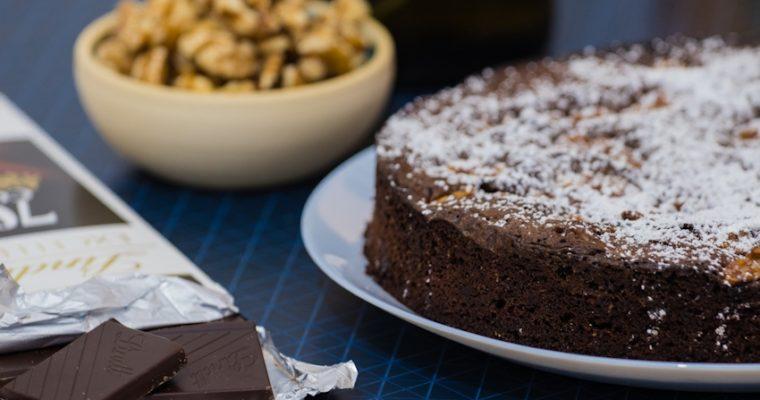 עוגת שוקולד עם אגוזי מלך